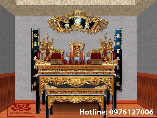 Cách sắp xếp bàn thờ gia tiên mẫu 04