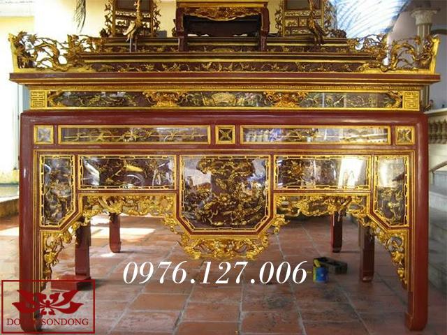 mẫu bàn thờ đẹp - Bàn thờ ô xa 07