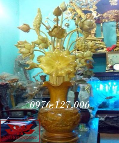 Hoa sen gỗ 03