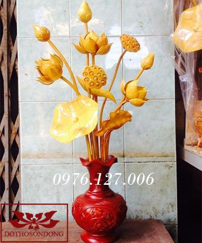 Hoa sen gỗ 07