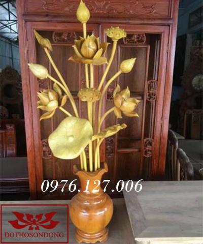 Hoa sen gỗ 10