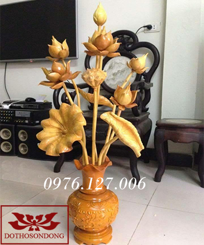 Hoa sen gỗ 14