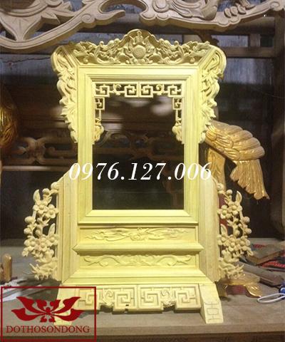 khung ảnh thờ gỗ mít 01