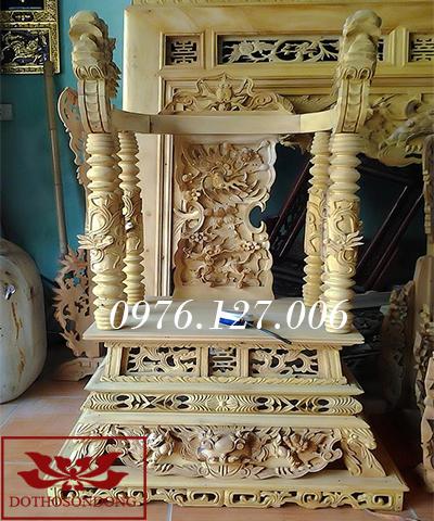 ngai thờ gỗ mít 01
