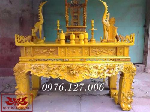 sập thờ gỗ mít ms 04