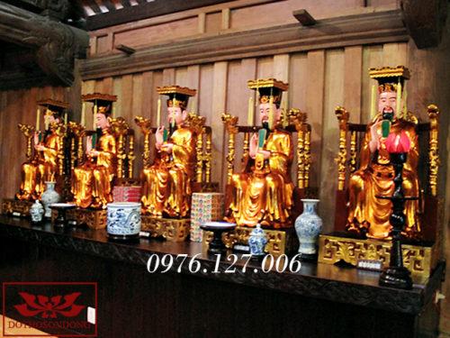 tượng thập điện diêm vương bằng gỗ 01