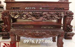 Bộ sập thờ gỗ gụ chạm tứ linh ms 36