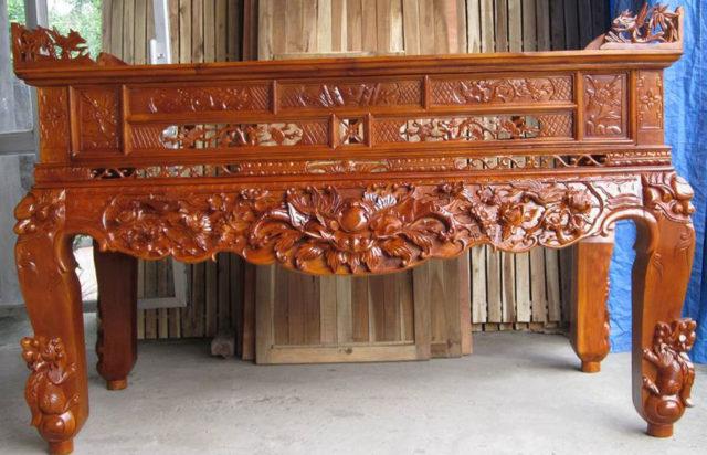 sập thờ gỗ gụ đồng kỵ