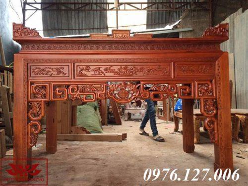 án gian thờ gỗ gụ ms 38