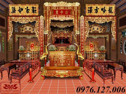 mẫu thiết kế nội thất nhà thờ họ đẹp ms01