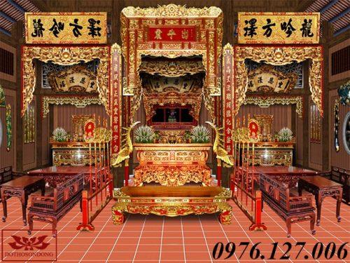 mẫu thiết kế nội thất nhà thờ họ đẹp ms01-3