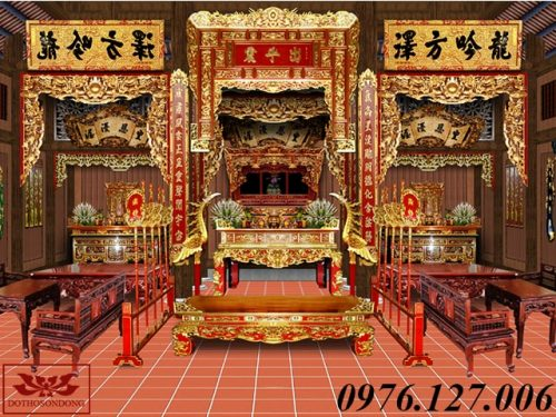 mẫu thiết kế nội thất nhà thờ họ đẹp ms04