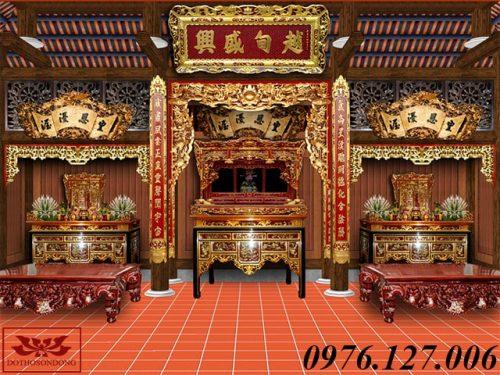 mẫu thiết kế nội thất nhà thờ họ đẹp ms01-5